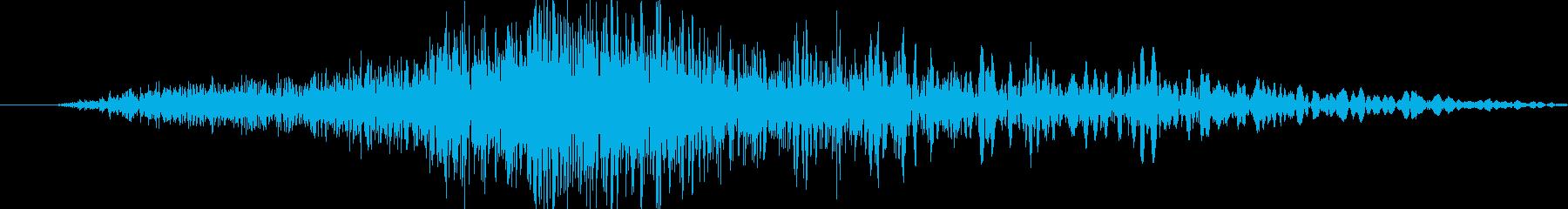刀剣を振った際の風音(シュッ)の再生済みの波形