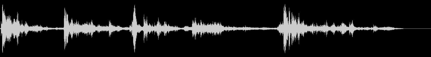 ライトニングサンダー-の未再生の波形