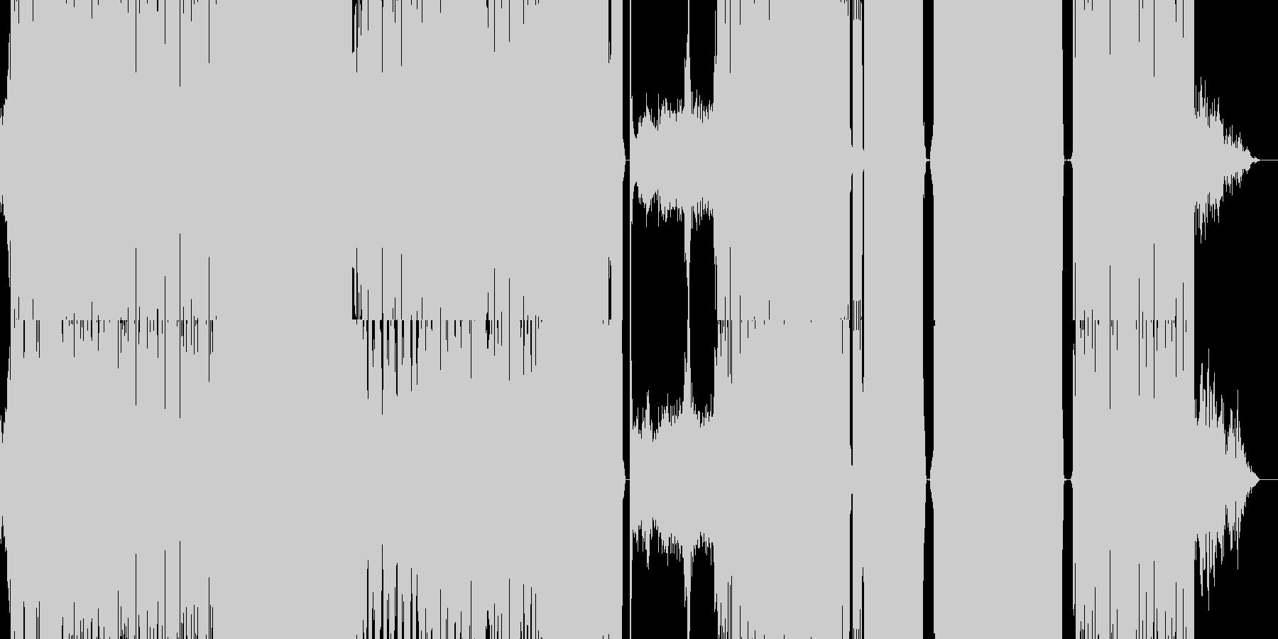 EDM, ダブステップ風の激しめBGM。の未再生の波形