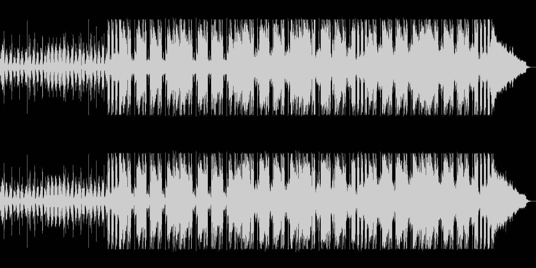 洗練されたオシャレなテクノポップの未再生の波形