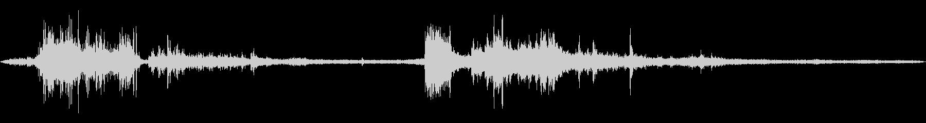 雷のフィールドレコーディング1の未再生の波形
