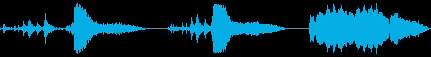 ラリーカー、リバービング、テイクオ...の再生済みの波形