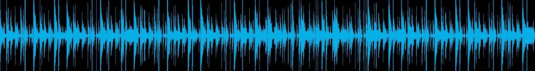 ゆったりとしたほのぼのファンクの再生済みの波形