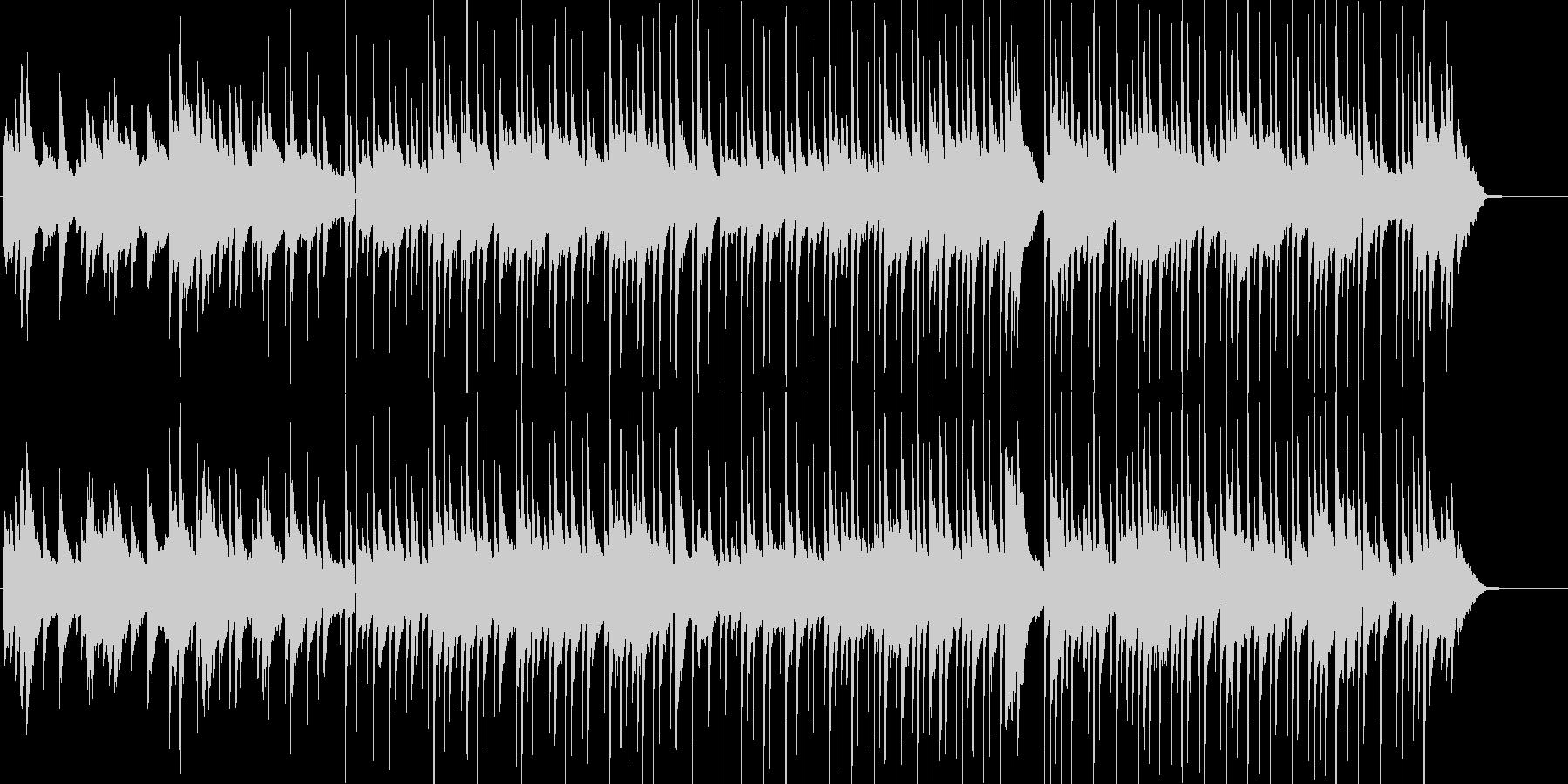 ピアノとアコギののんびりリラックスBGMの未再生の波形