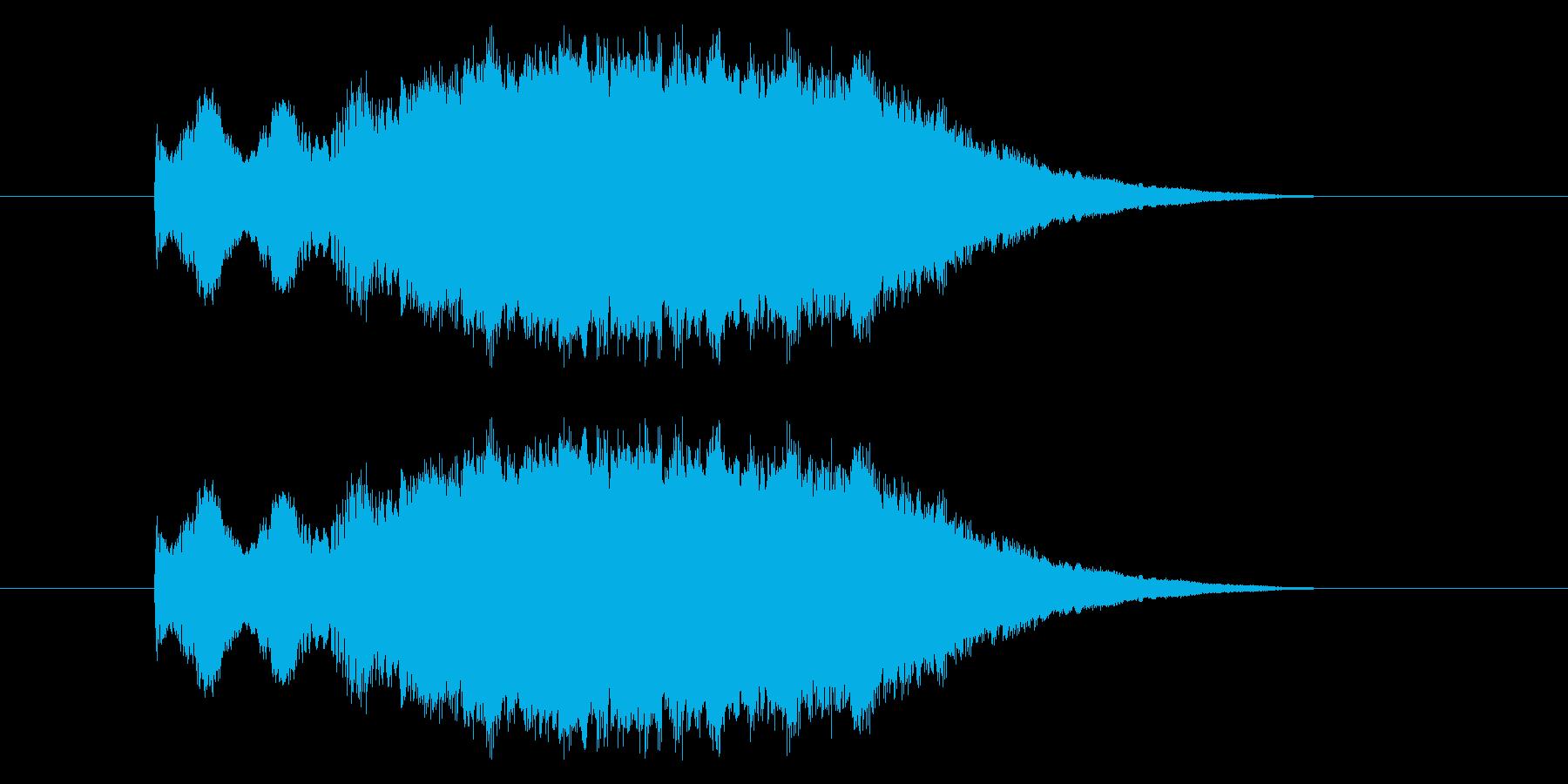 ピヒューン!レトロゲーム風 魔法音の再生済みの波形