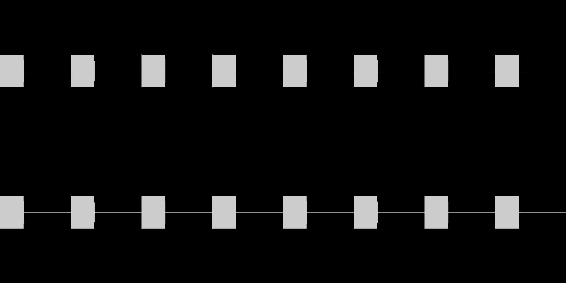 プルルル(電話の着信音)の未再生の波形