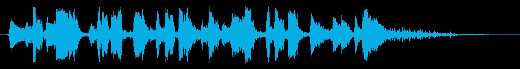 生演奏/爽やかウクレレと口笛とタンバリンの再生済みの波形