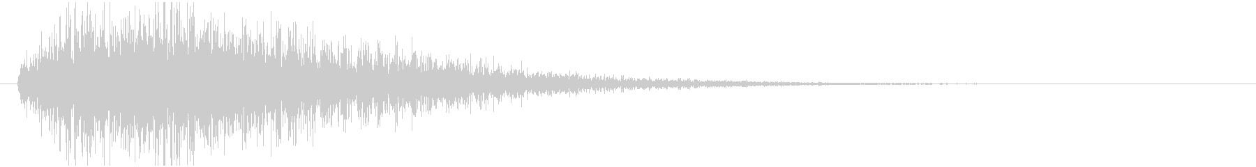 クイズ出題音(デデン!)の未再生の波形