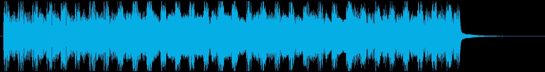 企業VP爽やかなポップ4つ打ち2 15秒の再生済みの波形