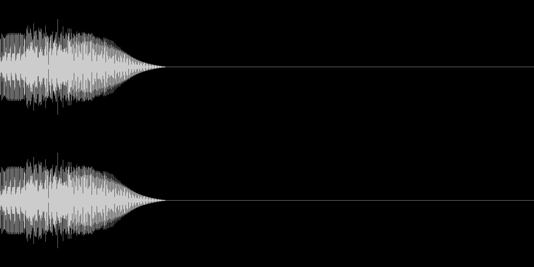 汎用 UI/決定/セレクト テレレレ の未再生の波形