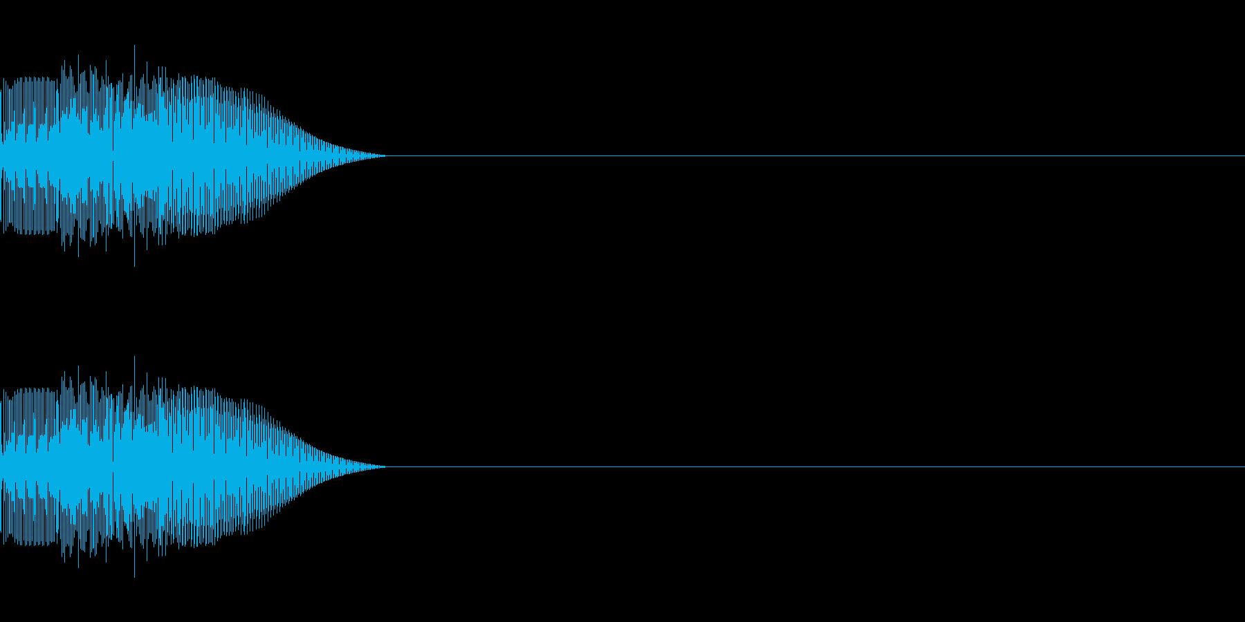 汎用 UI/決定/セレクト テレレレ の再生済みの波形