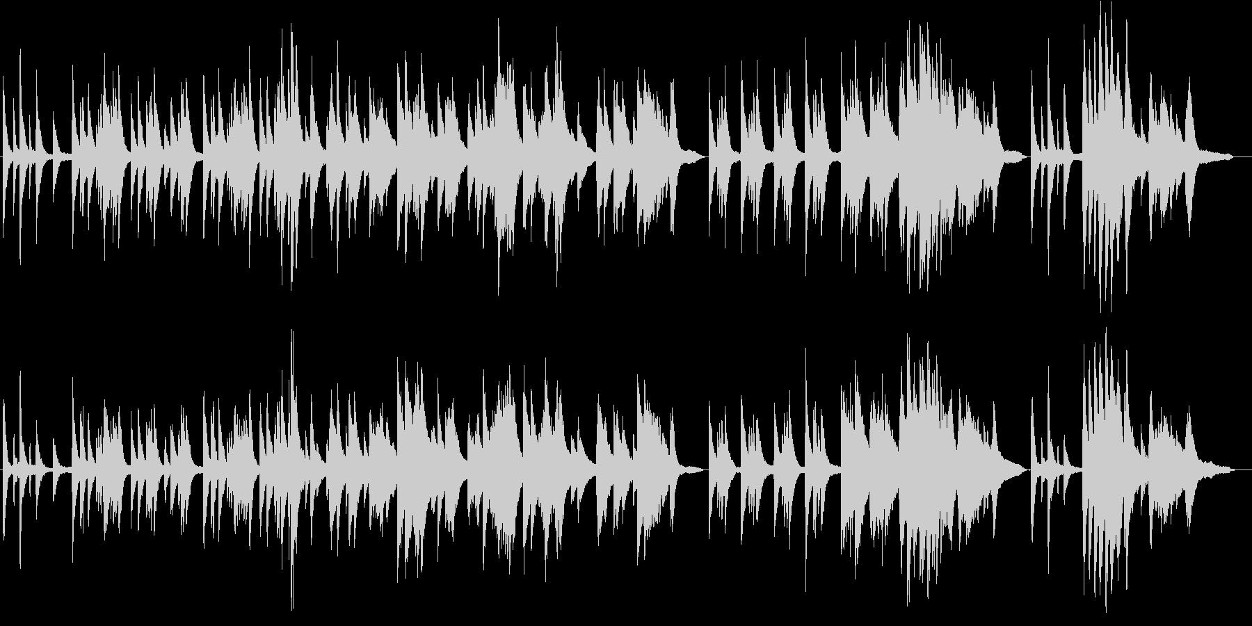 ピアノソロ、ゆったりBGM。 の未再生の波形
