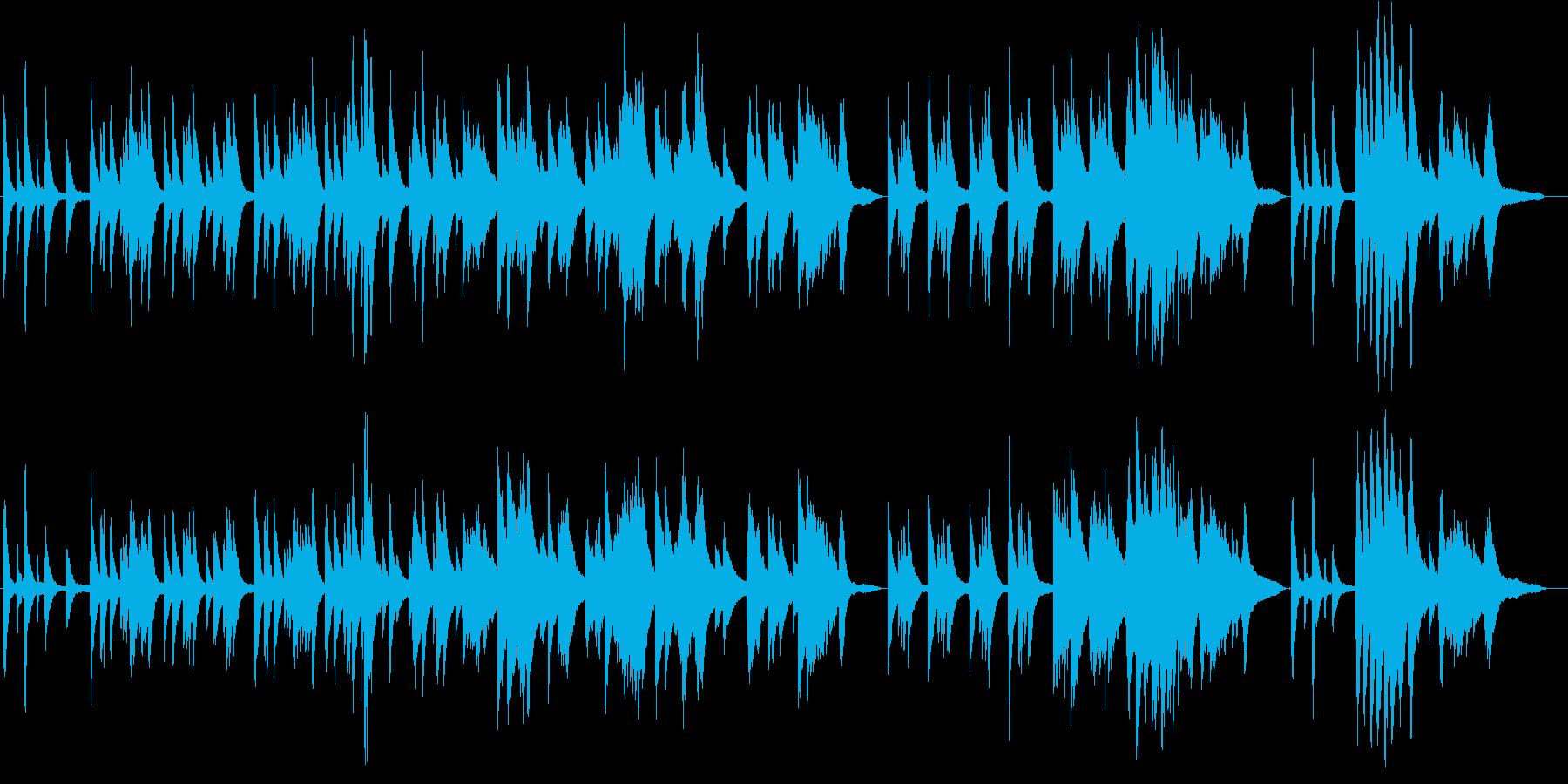 ピアノソロ、ゆったりBGM。 の再生済みの波形