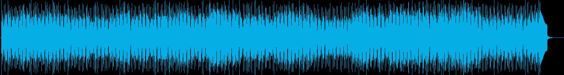 コミカルな感じでノリのいいラテン系の曲の再生済みの波形