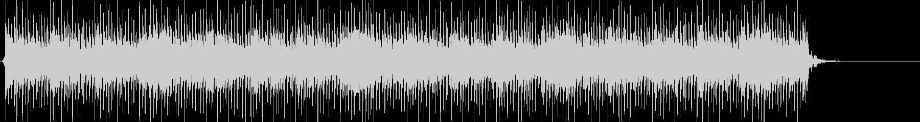 緊張感、テンポ感あるエレクトロの未再生の波形