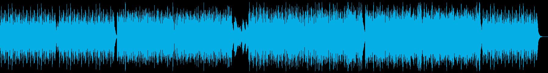 楽しく遊ぶポップピアノ:ピアノと低い弦の再生済みの波形