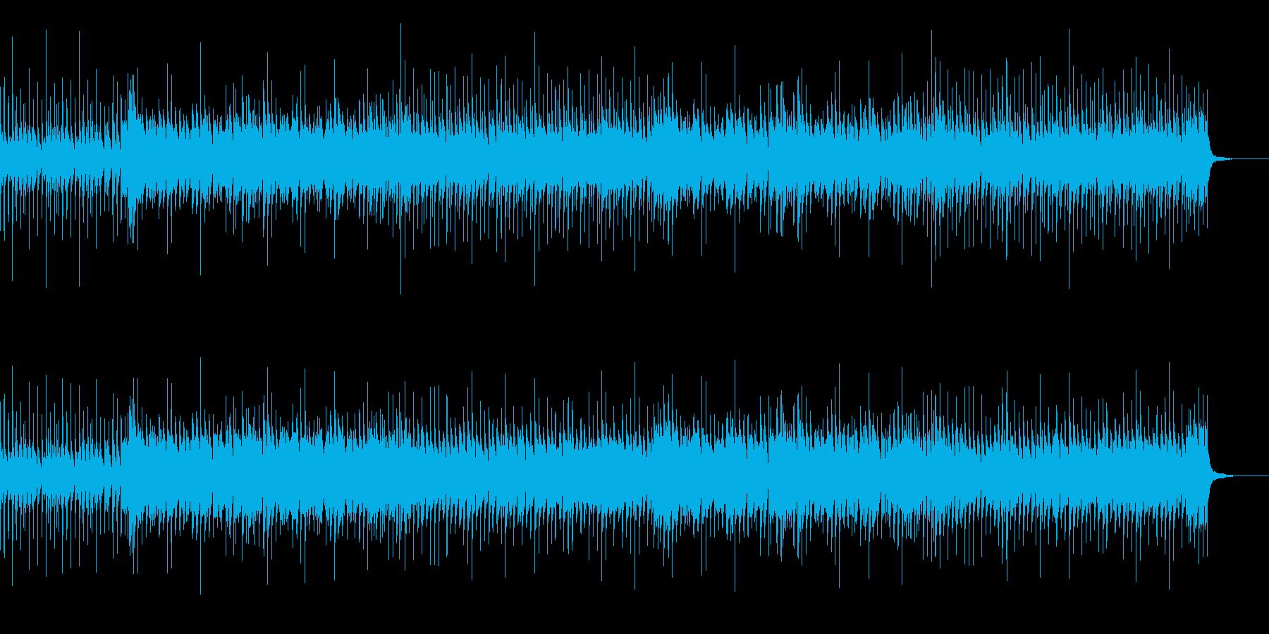ドラムとウッドベースのファンキージャズの再生済みの波形