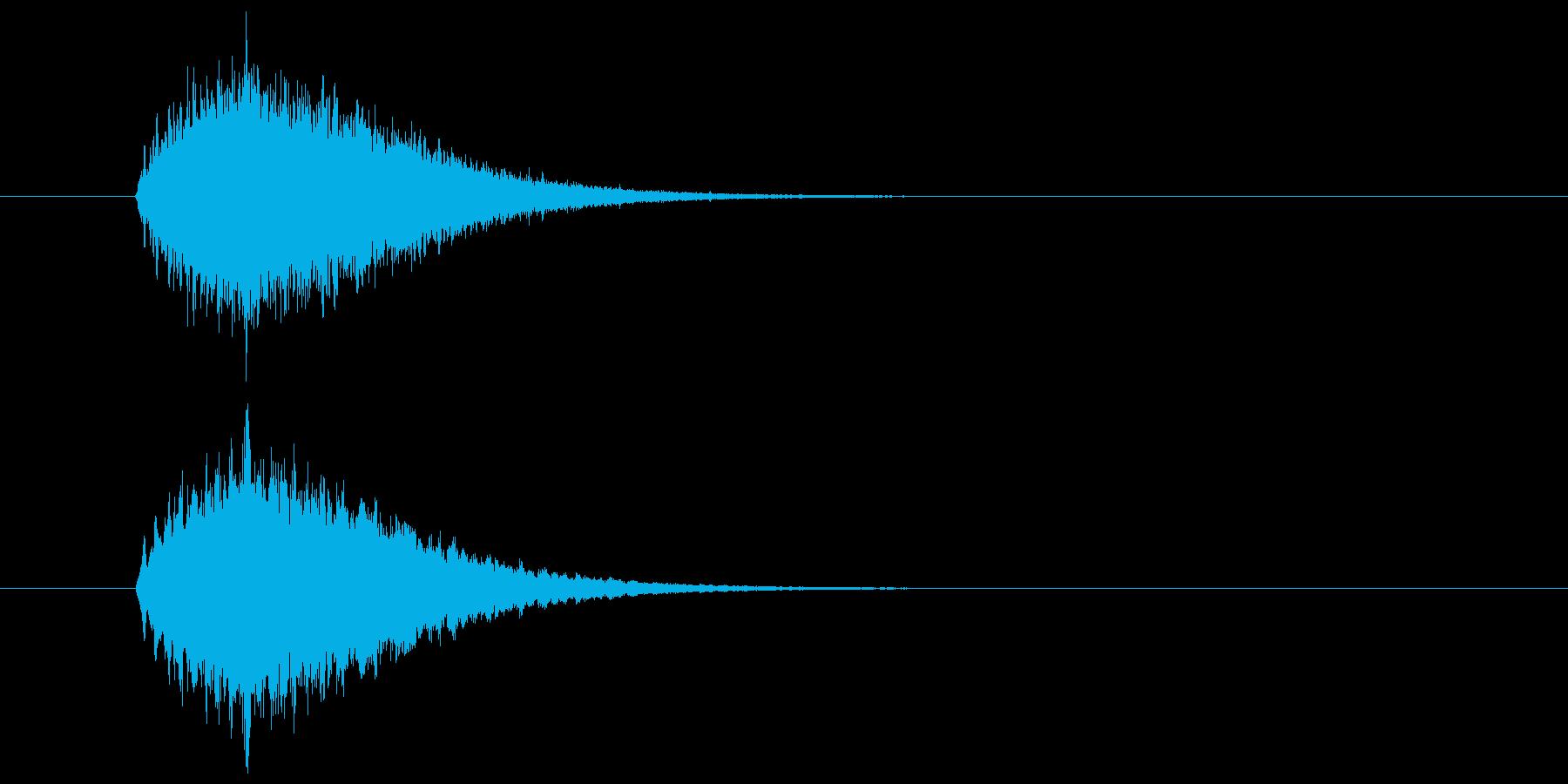 キラーン(華やかな音・余韻短い) 02の再生済みの波形