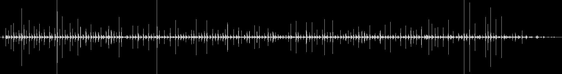 バイノーラル足音走るサンダル_前斜右の未再生の波形