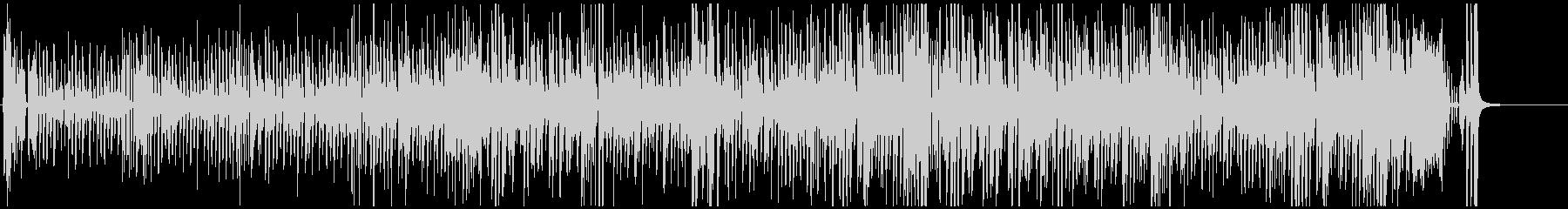 壊れたピアノ&ベースのジャズ系ハロウィンの未再生の波形