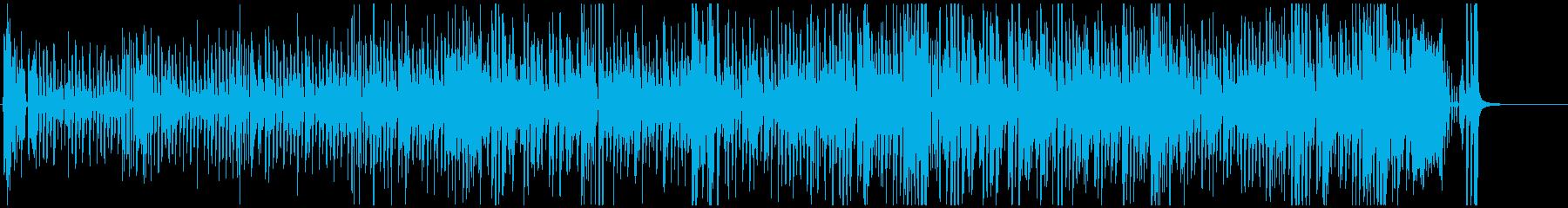 壊れたピアノ&ベースのジャズ系ハロウィンの再生済みの波形