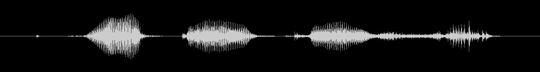 抗体検査の未再生の波形