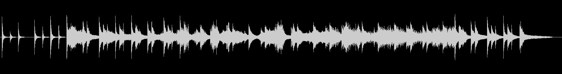 物静かなピアノとバイオリンの協奏曲の未再生の波形