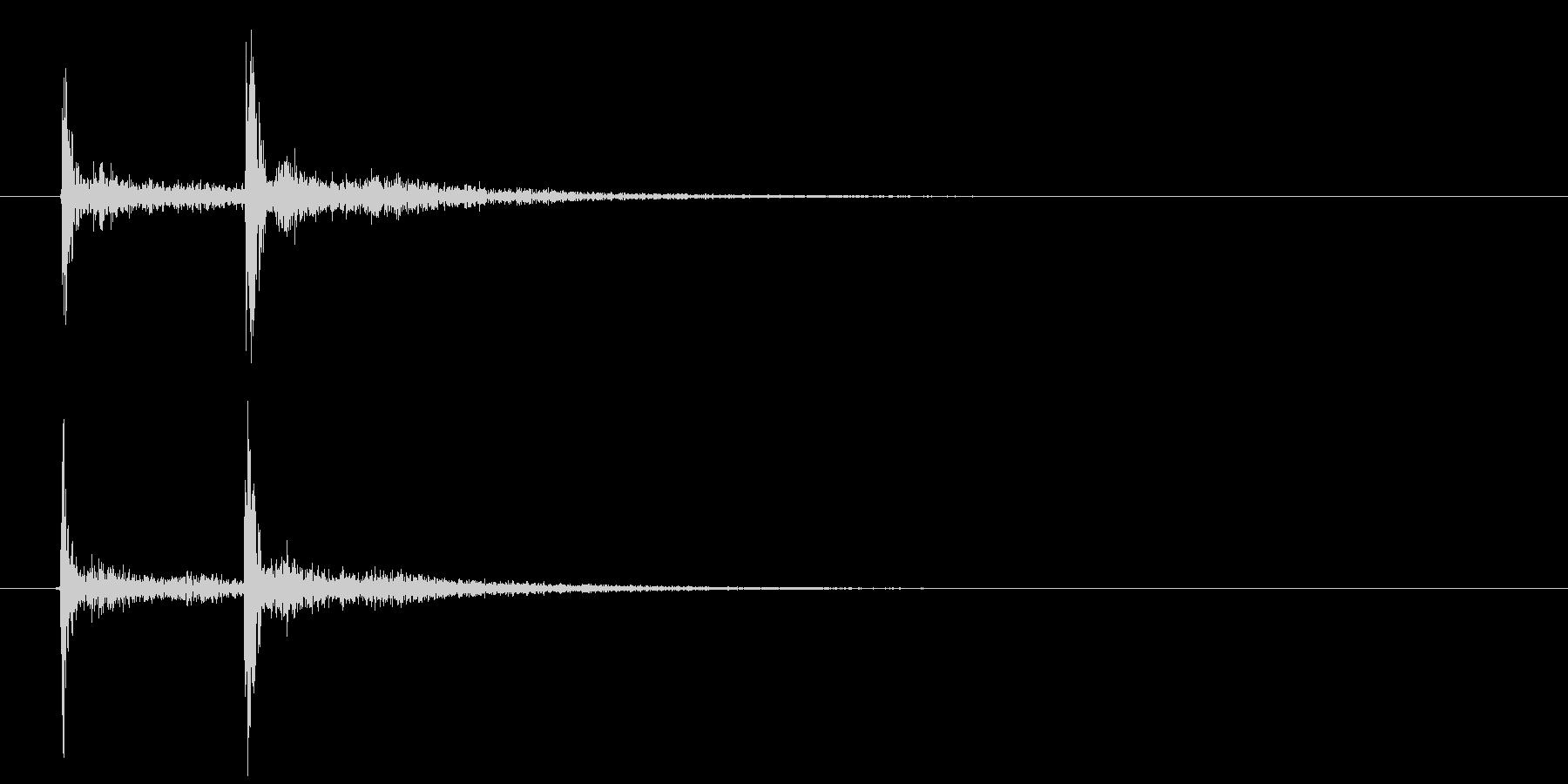 歌舞伎での立ち回り登場等の付け打ち単発音の未再生の波形