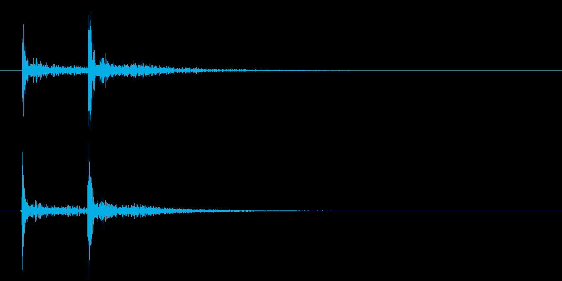 歌舞伎での立ち回り登場等の付け打ち単発音の再生済みの波形