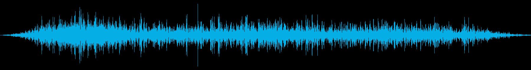 ハードレザー:ショートスクラッチの再生済みの波形