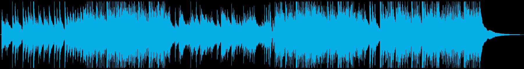 爽やかで軽快なBGM向きのアコギ曲の再生済みの波形