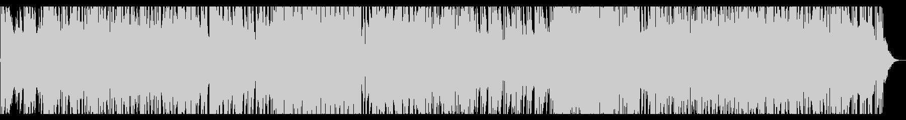 水の中、アンビエントなクリーンギターの未再生の波形