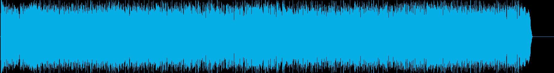 激しい スピード 力強い  スリルの再生済みの波形