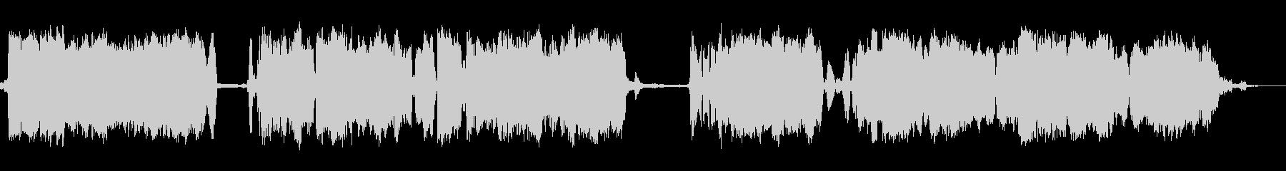 重い静的スパーク、変動バーストの未再生の波形