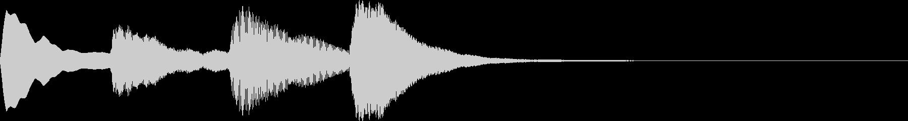 爽やかで静けさのあるジングルですの未再生の波形