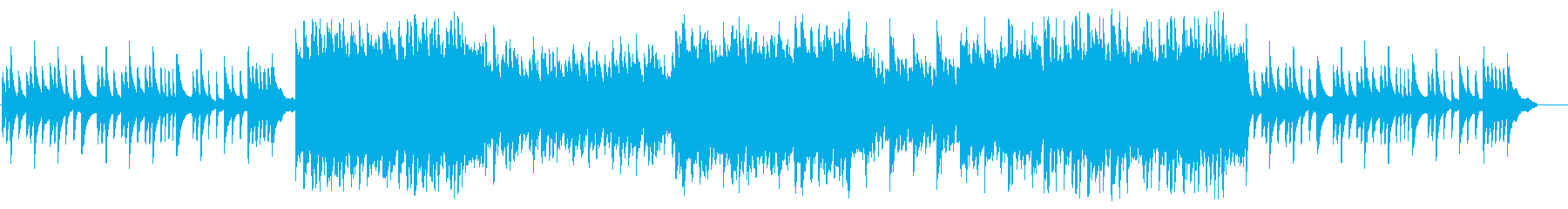親子の感動シーンをイメージしたピアノ曲の再生済みの波形