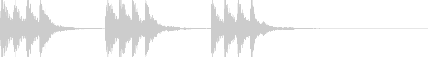 マリンバの短いジングルの未再生の波形