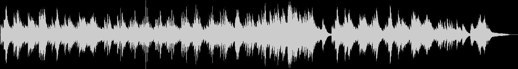 懐かしさのあるピアノソロの未再生の波形