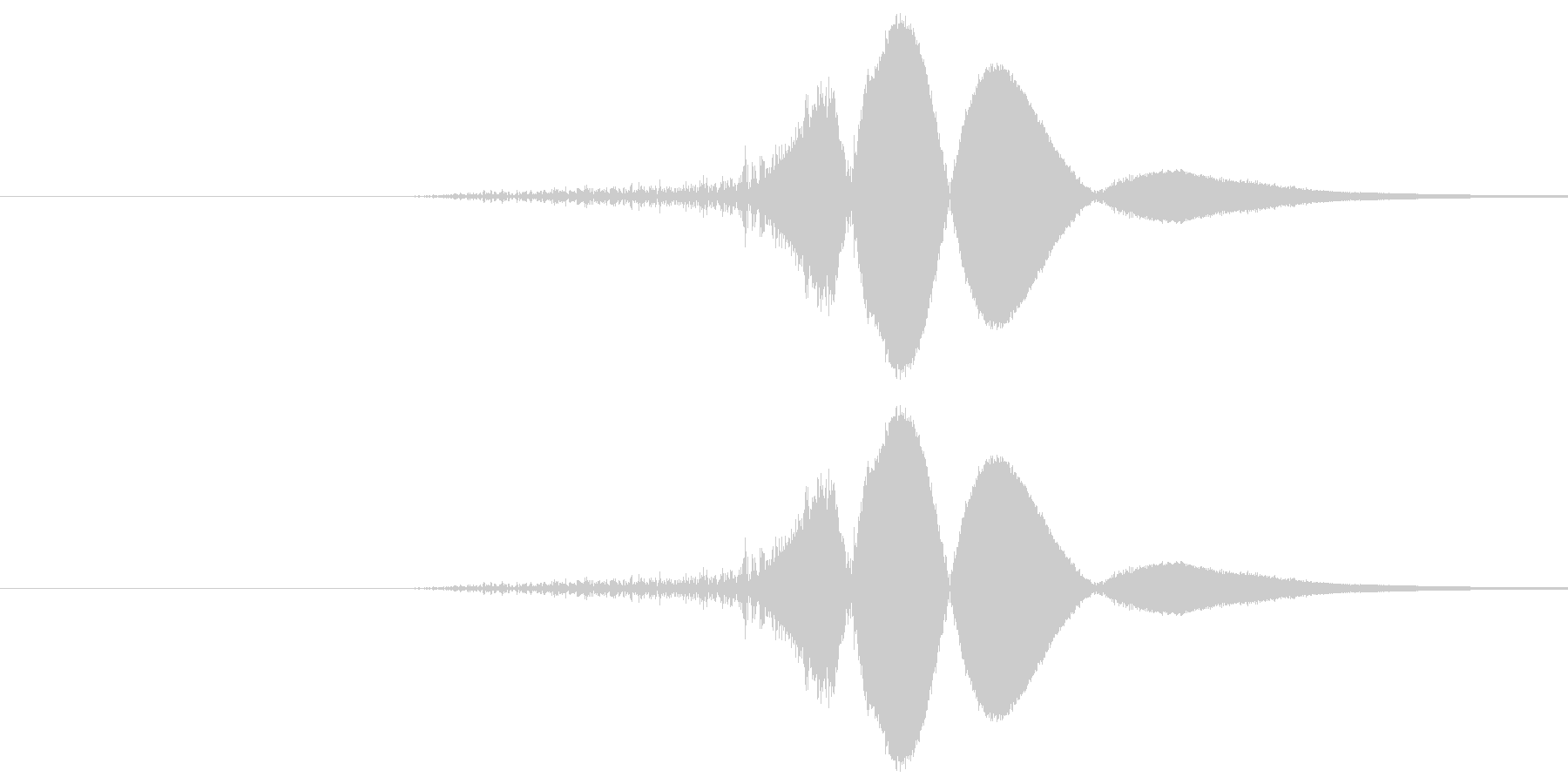 ヒュの未再生の波形