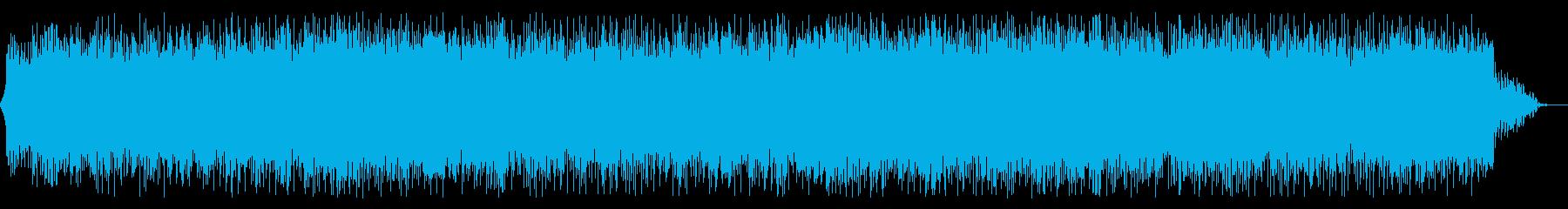 クールなイメージのハウス系楽曲の再生済みの波形