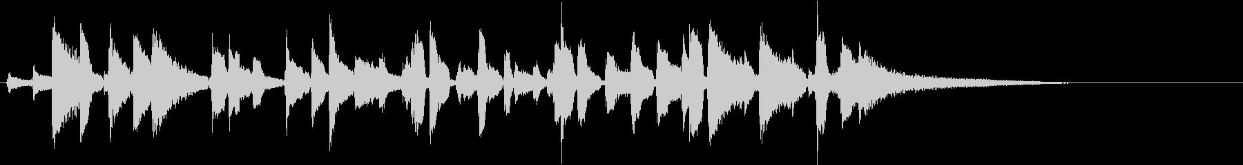 高音質ジャズピアノの短いジングル20秒の未再生の波形