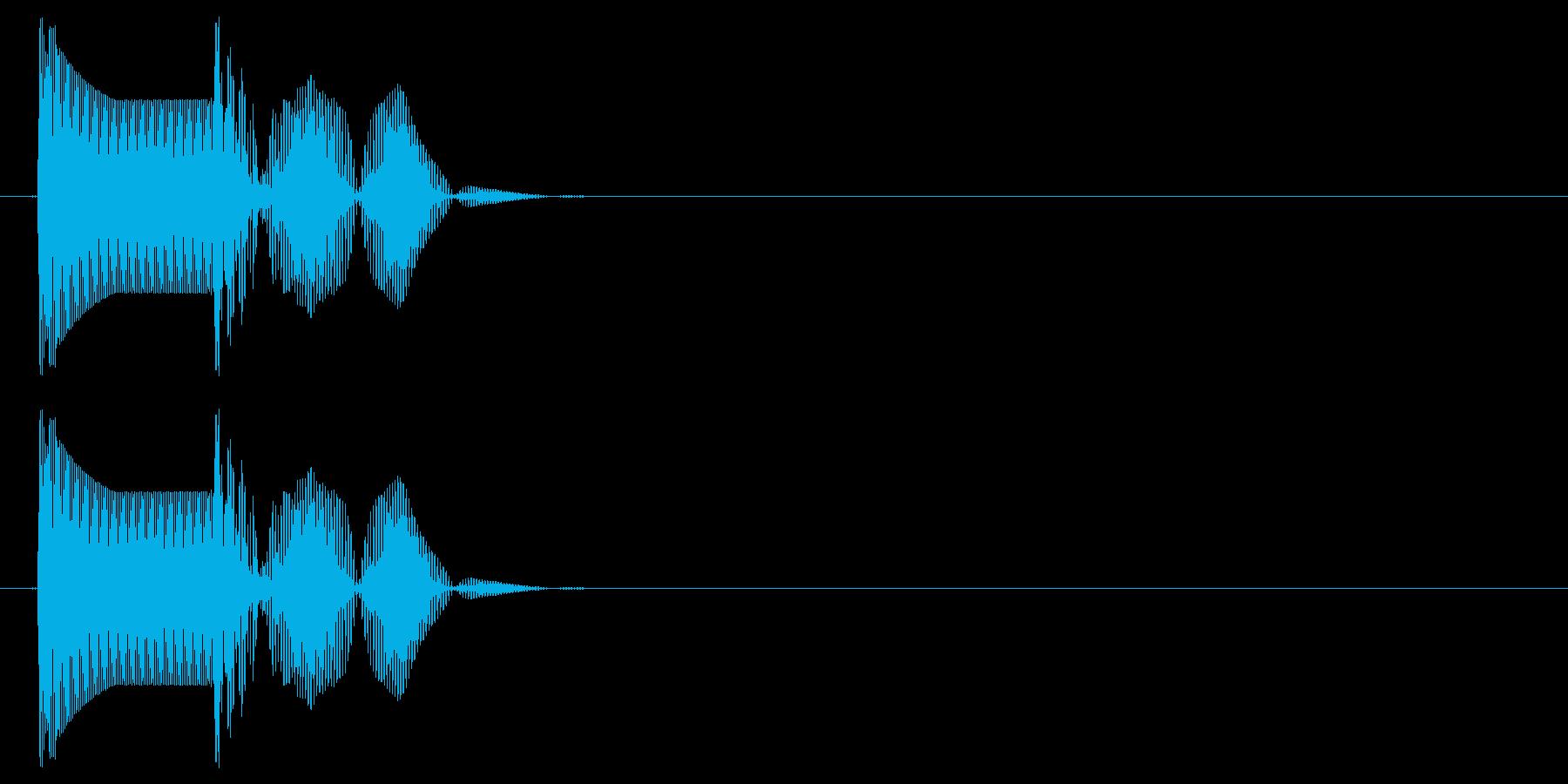 エラーを返す時などの効果音。の再生済みの波形