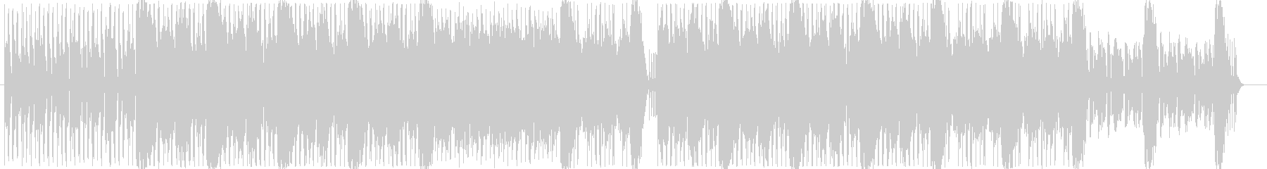 スローテンポの優しいBGMの未再生の波形