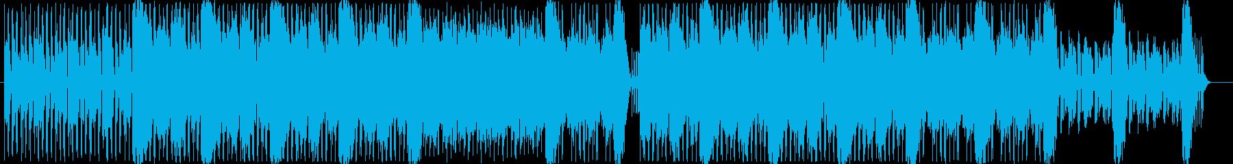 スローテンポの優しいBGMの再生済みの波形