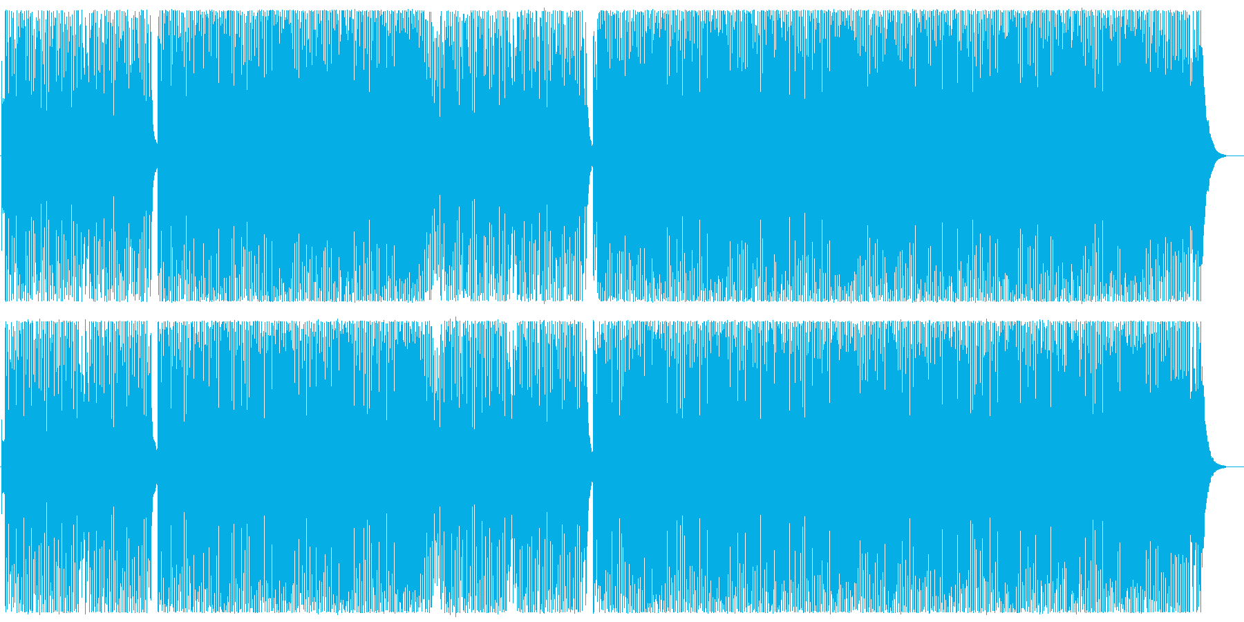 元気のいい可愛いテクノポップの曲の再生済みの波形