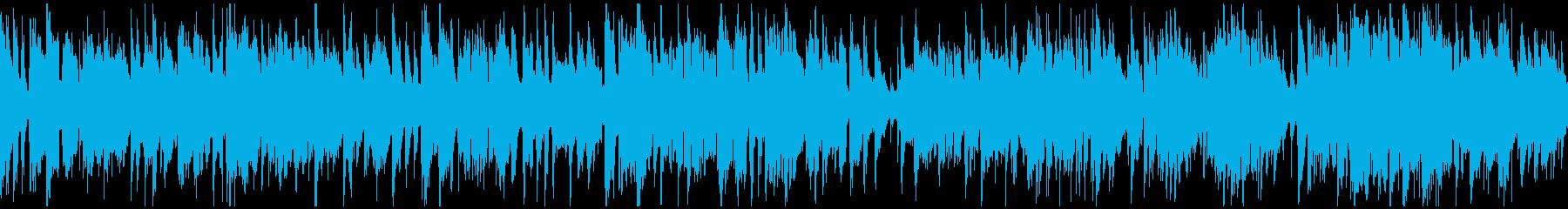 カジノっぽい明るい管楽器ジャズ※ループ版の再生済みの波形