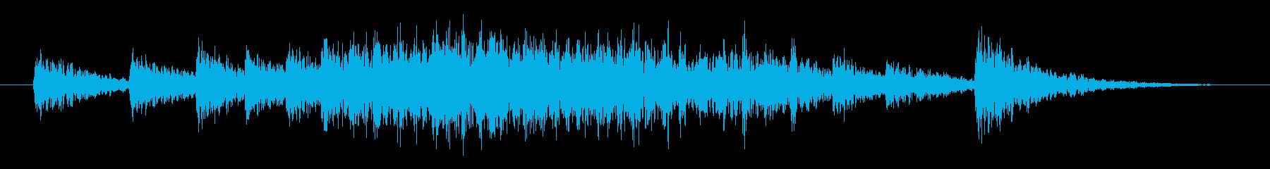 皇帝や王様登場時によく聴くドラの鐘音ですの再生済みの波形