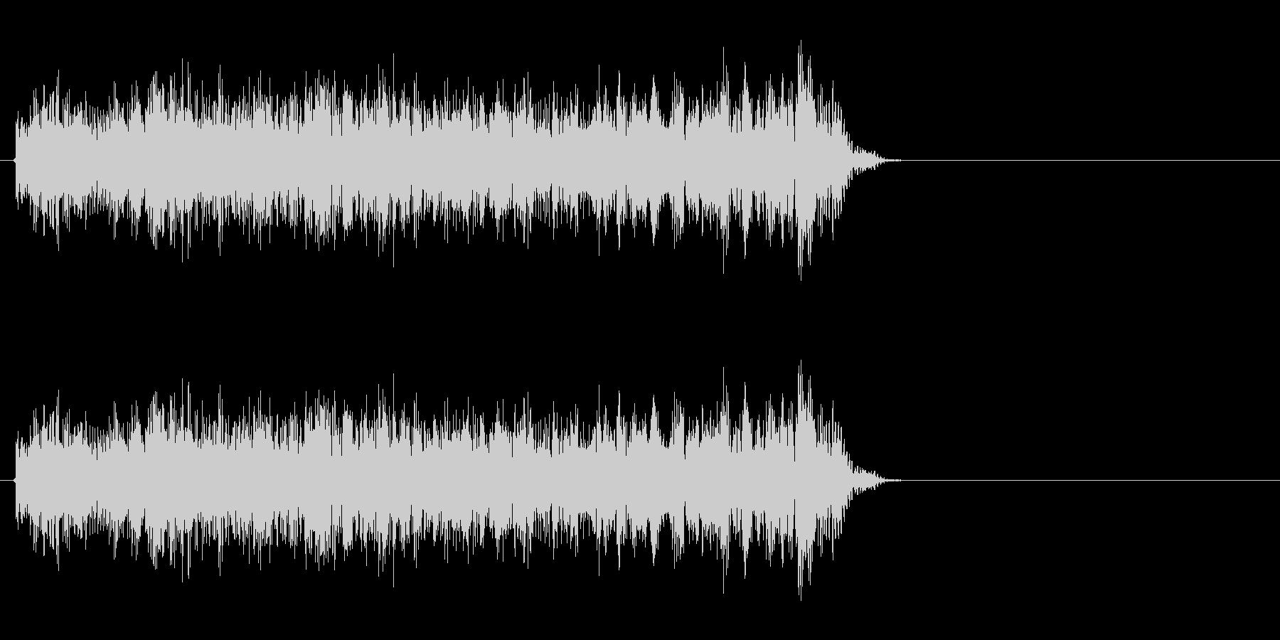 特撮などで使うビーム光線のような音ですの未再生の波形