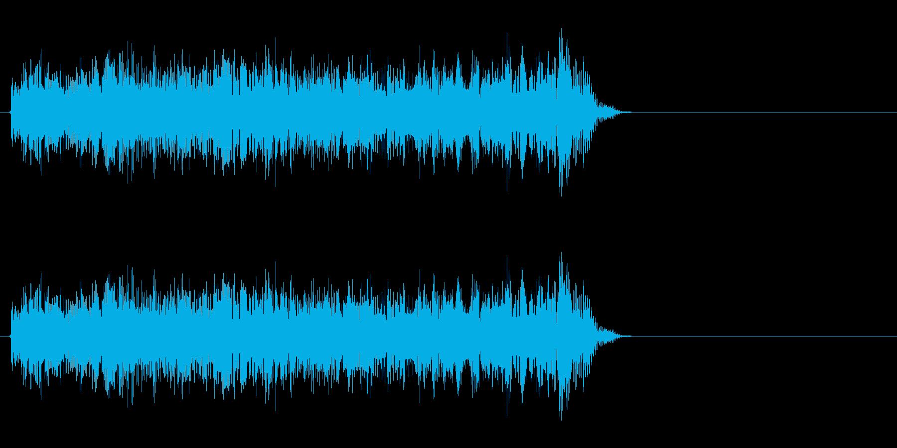 特撮などで使うビーム光線のような音ですの再生済みの波形