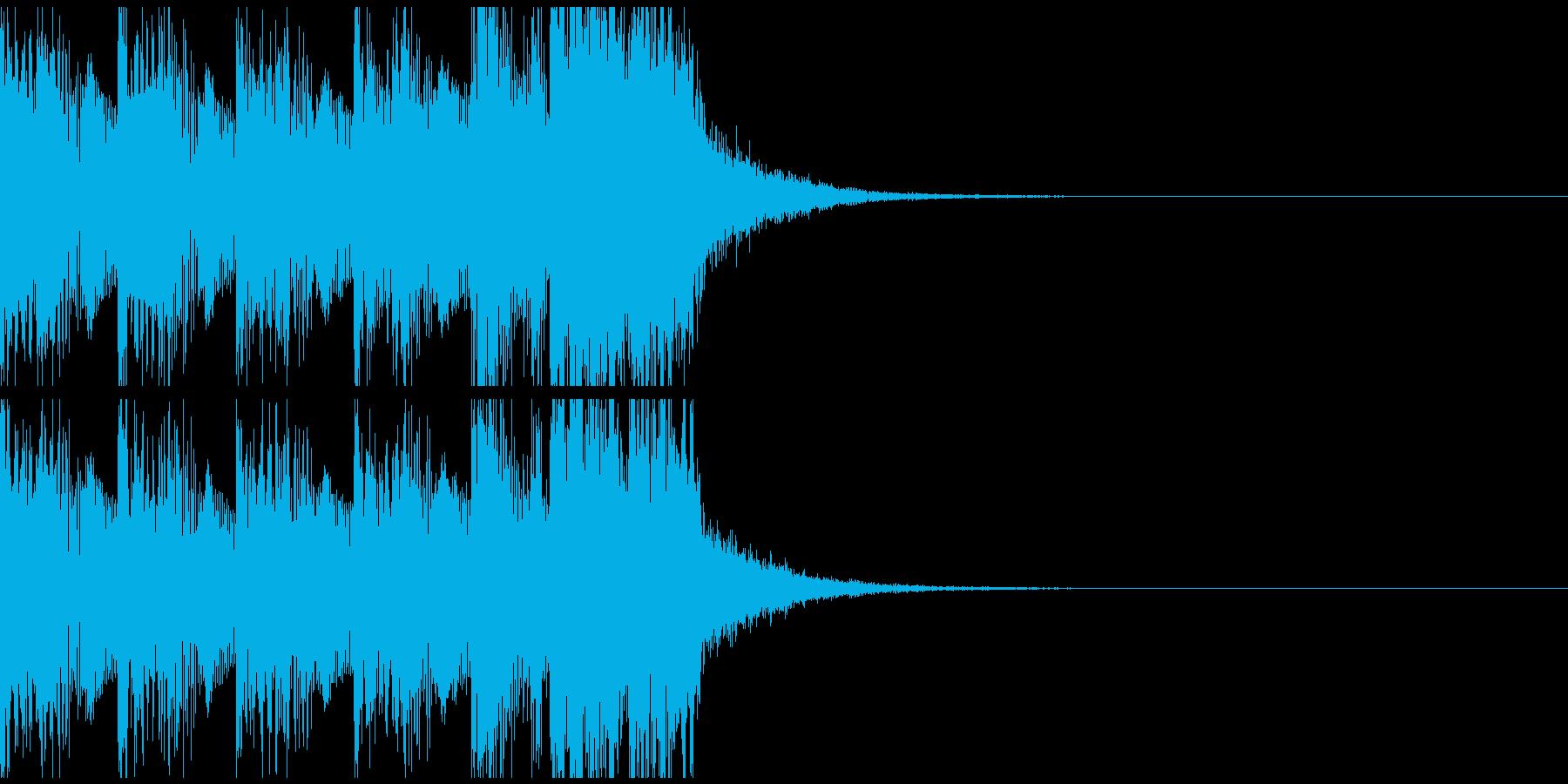 疾走感のあるEDMジングルの再生済みの波形